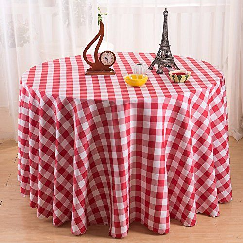 Round Plaid Tablecloth Check Pattern Restaurant Home Decoration Summer U0026 Picnic  Tablecloths (90 Inch,