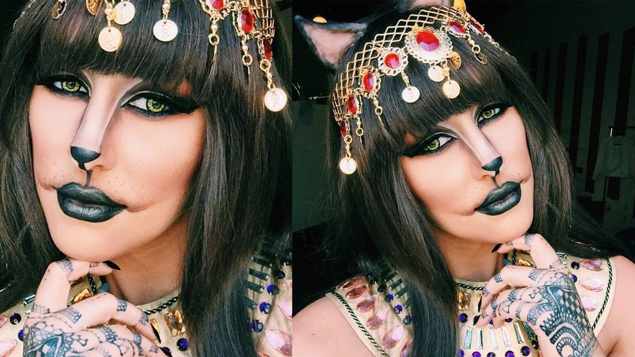 Cleocatra cat halloween makeup tutorial chrisspy youtube character makeup baditri Choice Image