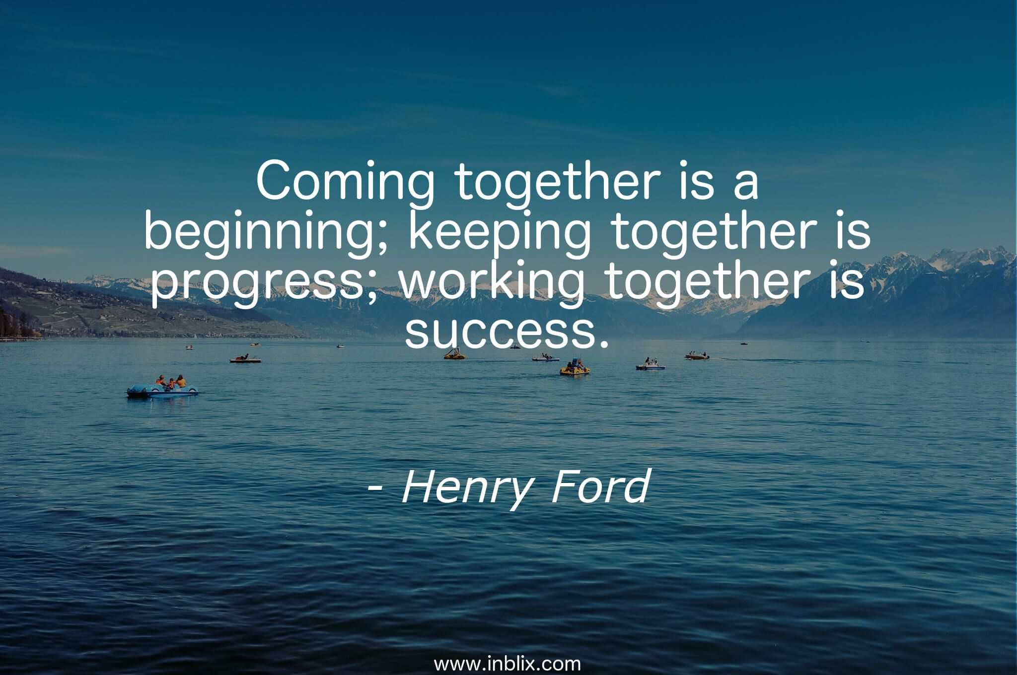 Working Together Is Success Leadership Teamwork