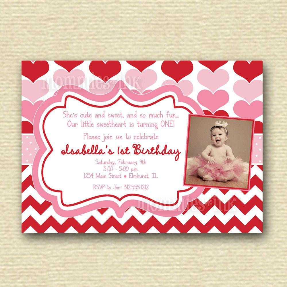 Red and Pink Valentine Sweetheart Hearts Birthday Party Photo ...