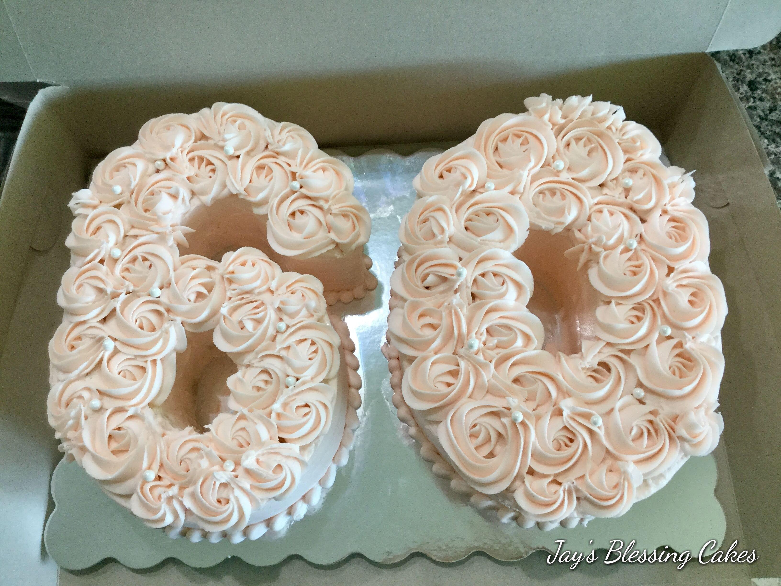 Rosette Number Cake Anzahl Kuchen