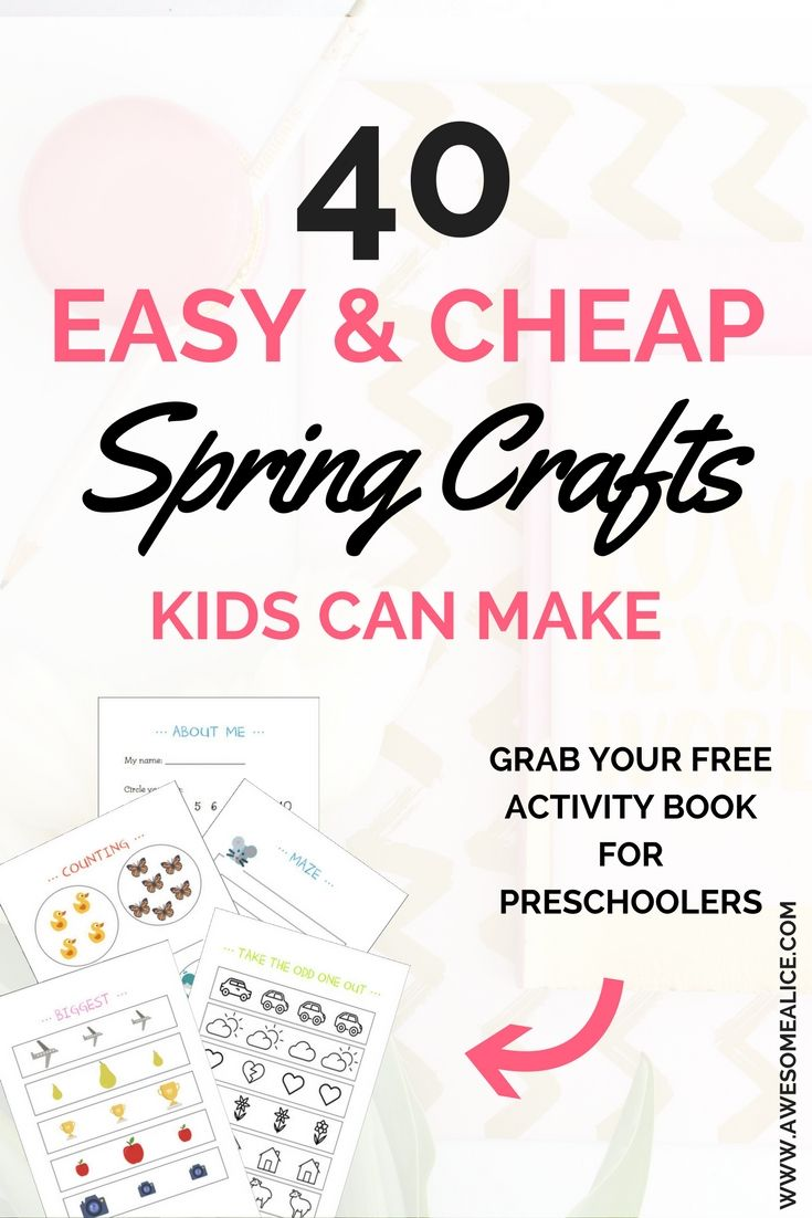 40 easy and cheap spring crafts kids can make | all about the