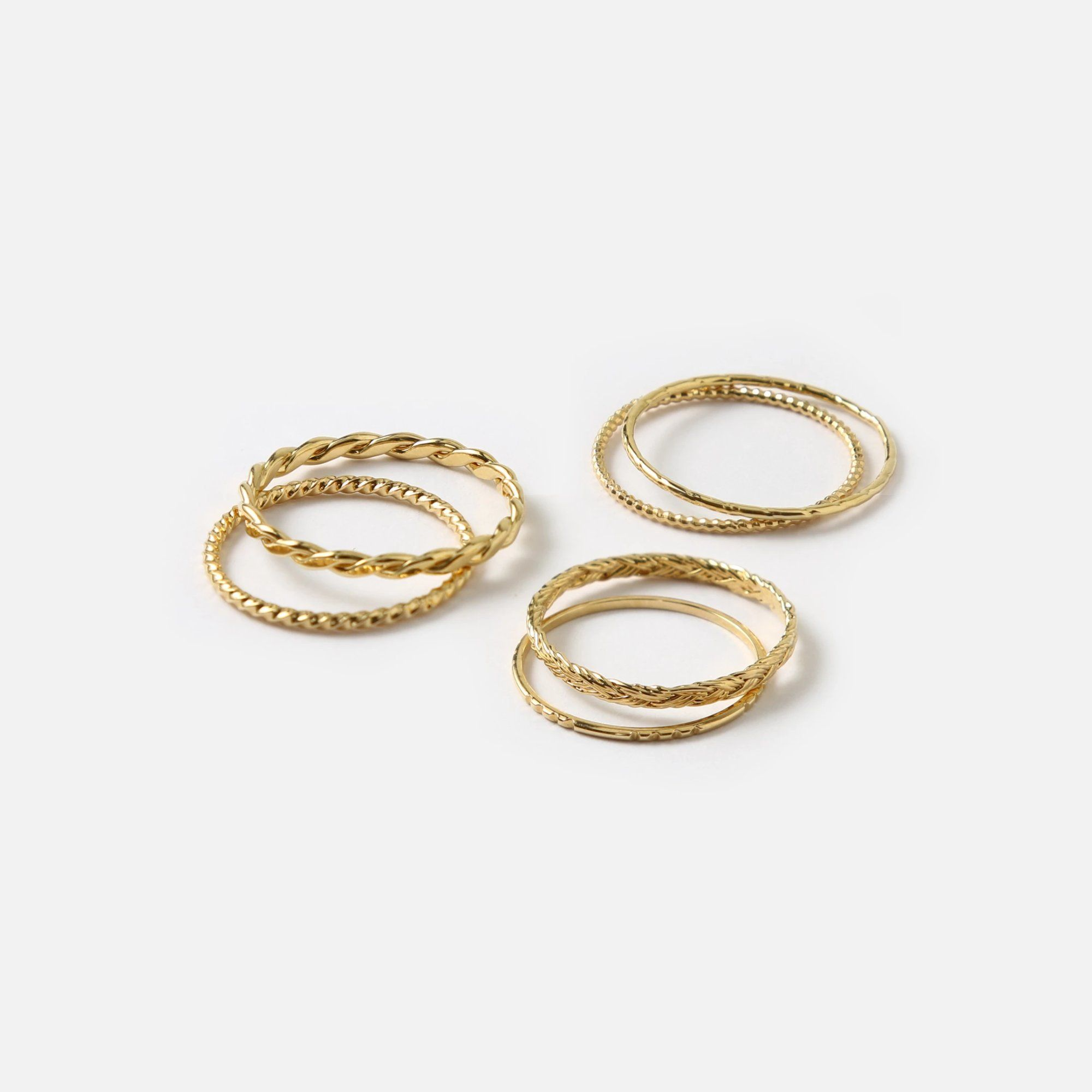 Gold Multi Stack Ring– Orelia London