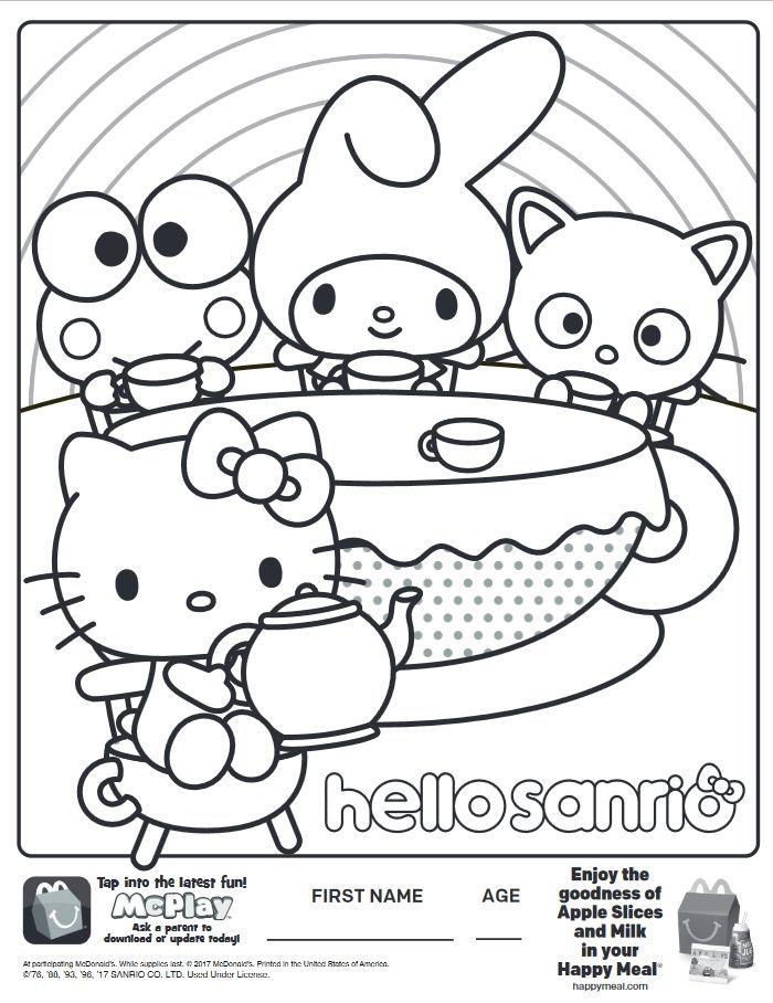 Sanrio Coloring Book