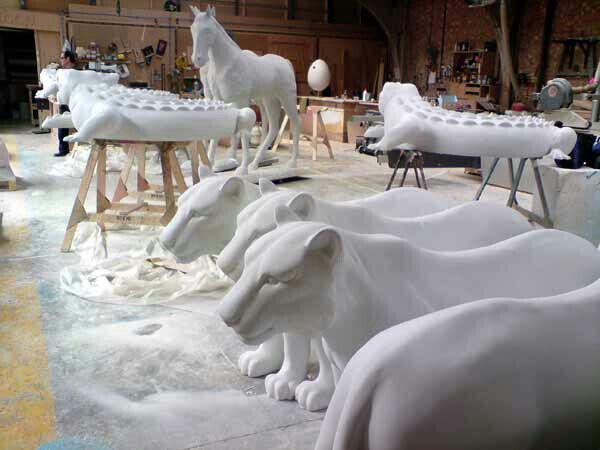 David Field Said:  Fiberglass Tigers and other animals made by me and others for Jungle City.
