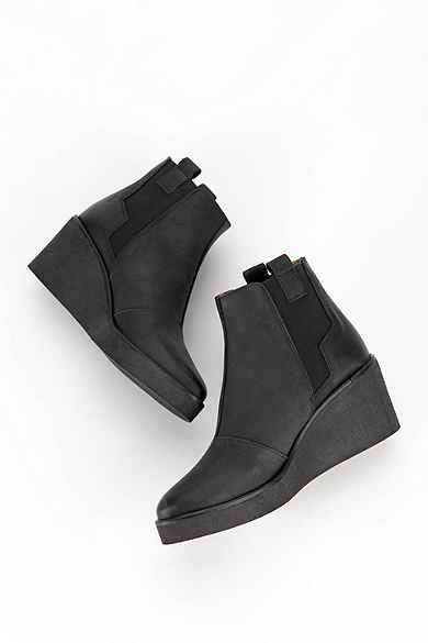 19f9d94720 Sixtyseven Wedge Platform Ankle Boot Black Wedge Ankle Boots, Black Suede  Wedges, Platform Ankle