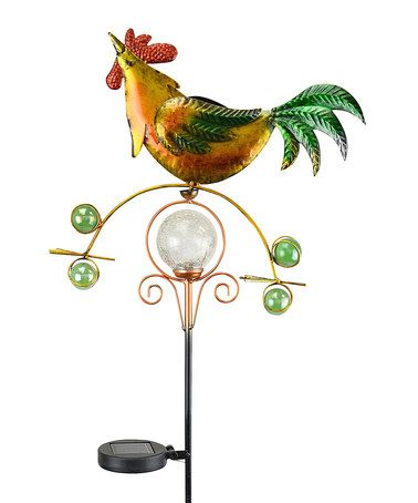 Another great find on #zulily! Balancer Rooster Solar Kinetic Garden Stake #zulilyfinds