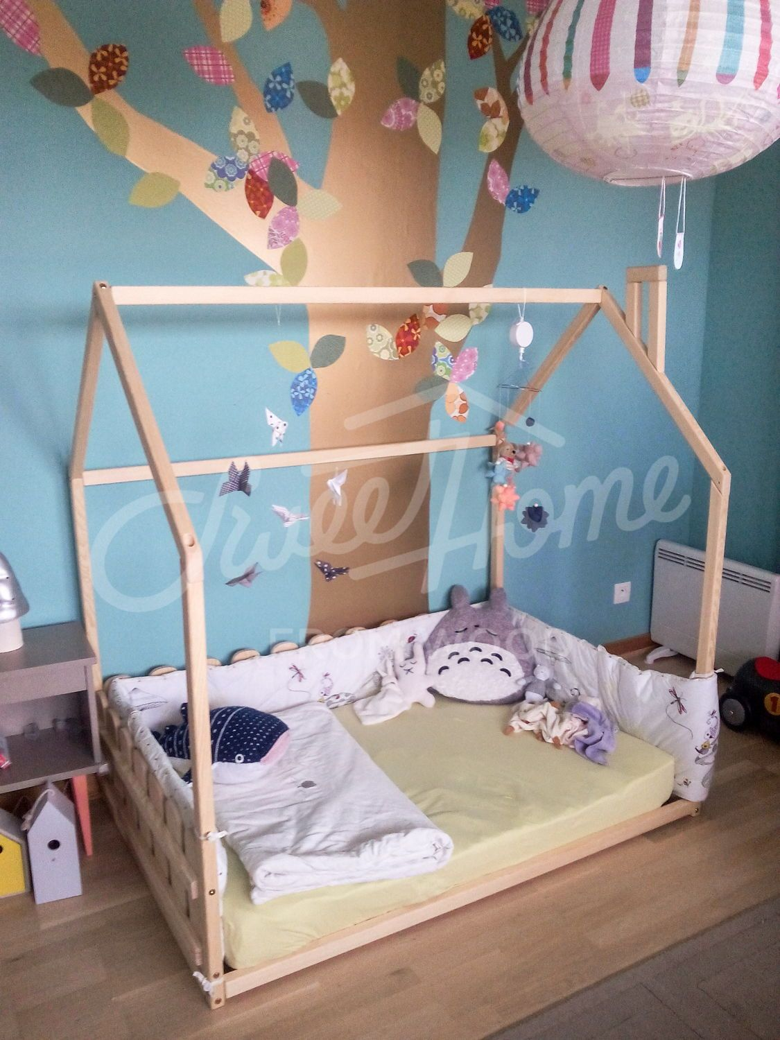 Baby Bed Twin Bed Frame Kids Teepee Tent Bed Is Wood House Bed For Children Bedroom And Montessori Toys In 2020 Toddler Bed Frame Kids Room Accessories House Beds