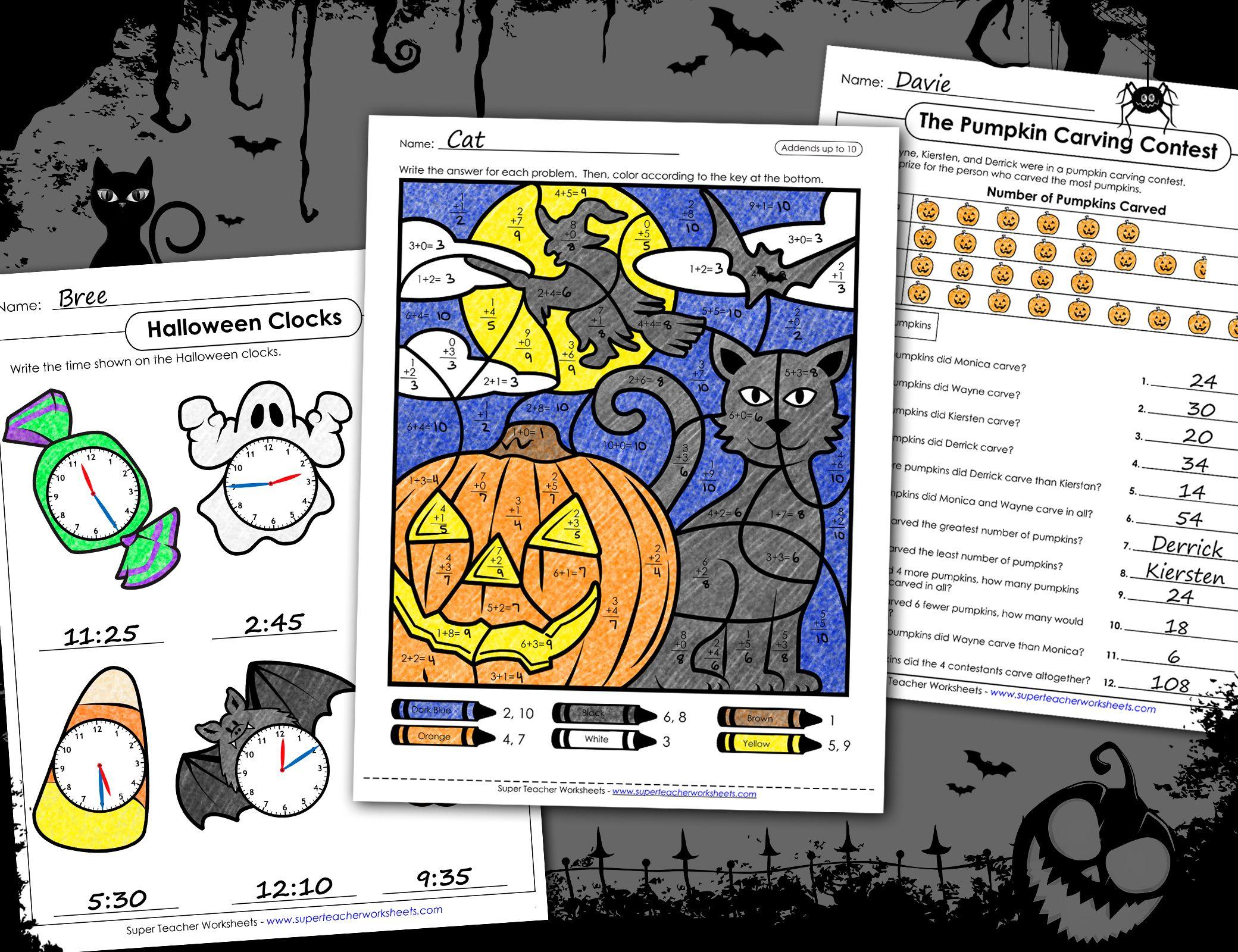 Halloween Math Activities Halloween Math Worksheets Halloween Math Halloween Math Activities [ 1600 x 2080 Pixel ]
