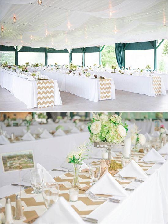 White and Chevron Wedding | Tents, Weddings and Wedding