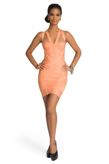 680182014cc Herve Leger Papaya Bandage Dress. LOVE this dress...one day I will have  someplace to wear it.