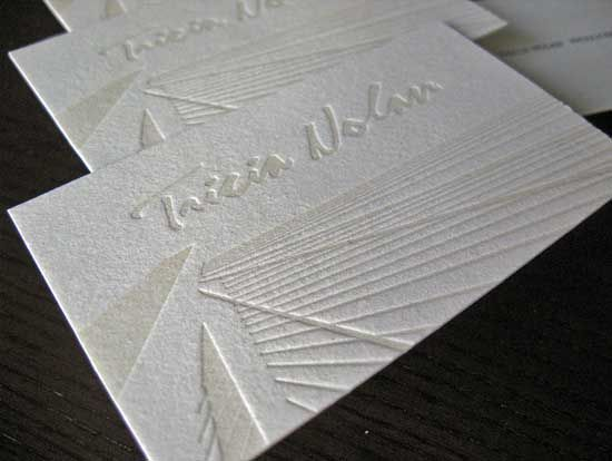 White letterpress business cards with blind deboss creative white letterpress business cards with blind deboss reheart Choice Image
