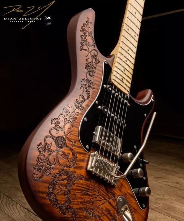 This Looks Carved Not Burned Cool Either Way Guitar Cool Guitar Guitar Finishing