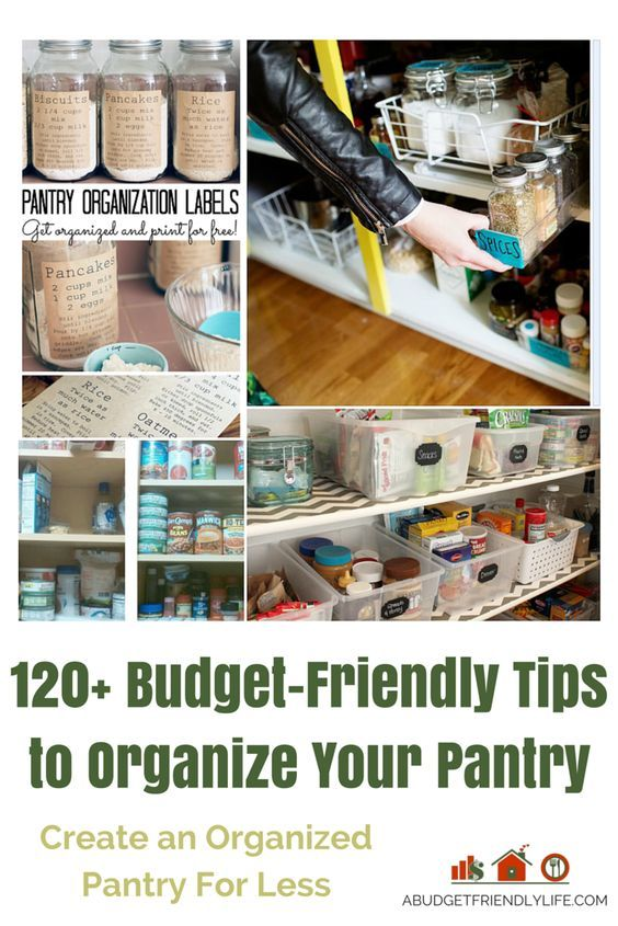 Create an Organized Pantry on a Budget 120+ Tips