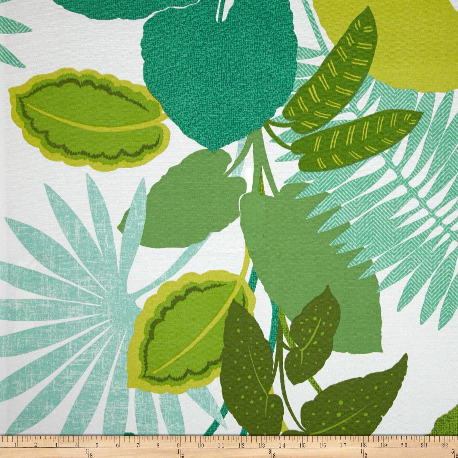 P Kaufmann Indoor/Outdoor Costa Rica Jungle Green Fabric
