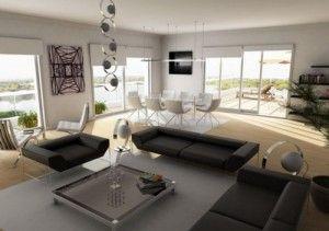 open living room dining room