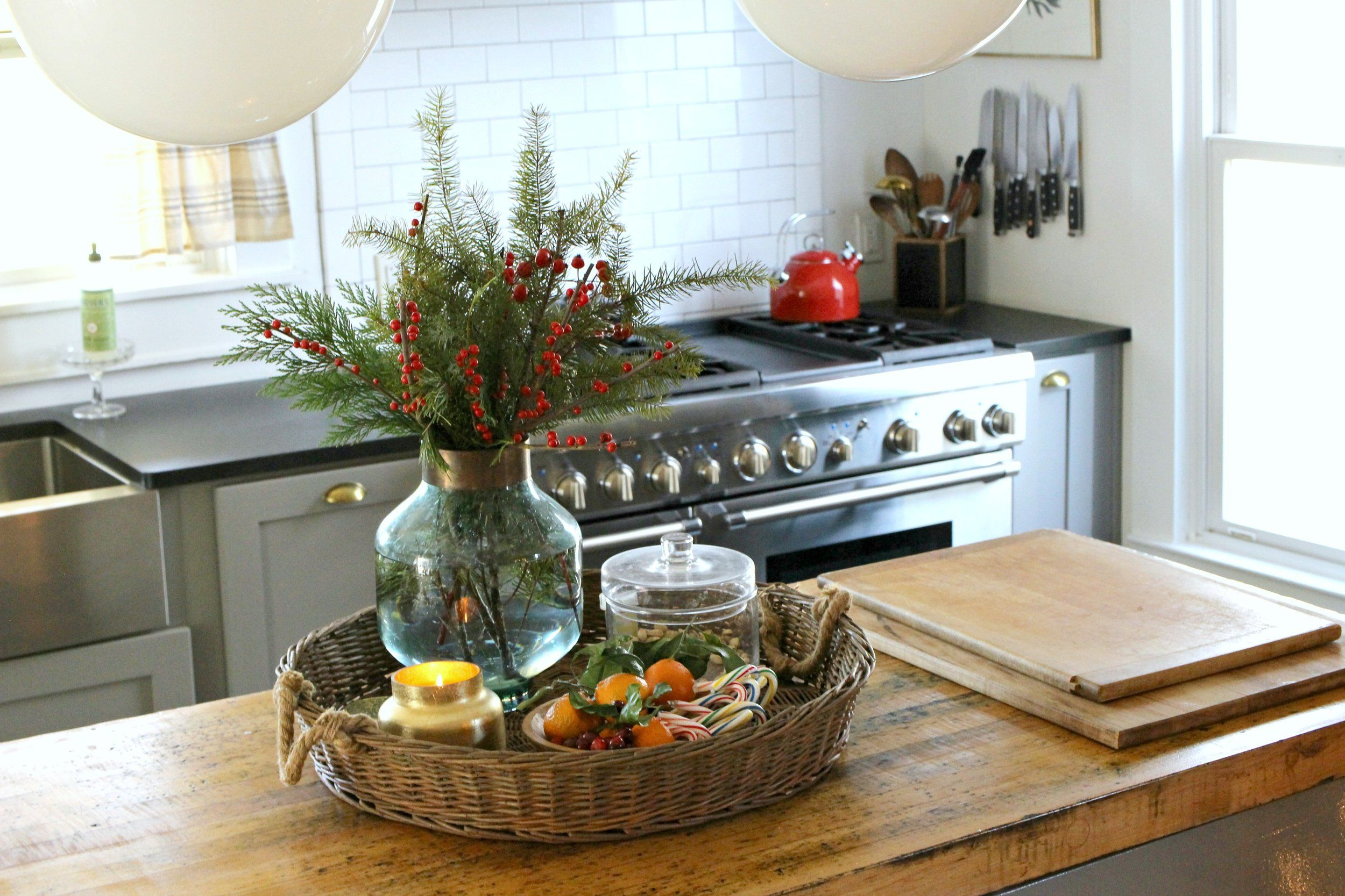 vintage christmas farmhouse kitchen gathered living holiday home tour house tours on farmhouse kitchen xmas id=24332