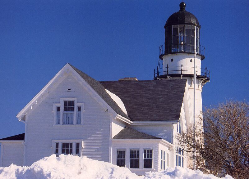 Cape Elizabeth, ME, in the snow.