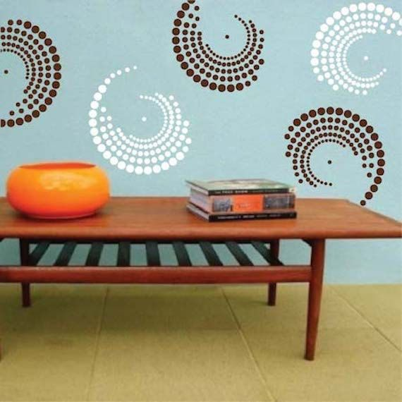 Attractive Curvy Vinyl Wall Decals, Shape Wall Decals, Shape Wall Desings, Shape Wall  Murals, Circle Wall Decals, Dots Decals, Circle Wall Designs, G22