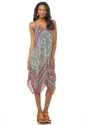 7c6589359b46 Cato Fashions Bordered Paisley Hanky Hem Dress #CatoFashions | nita ...