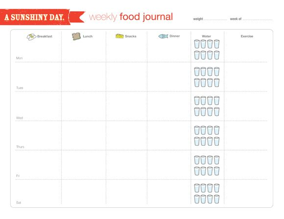 photograph relating to Printable Weekly Food Journal identify Cost-free Food stuff Log Printable. This is particularly suitable for folks who