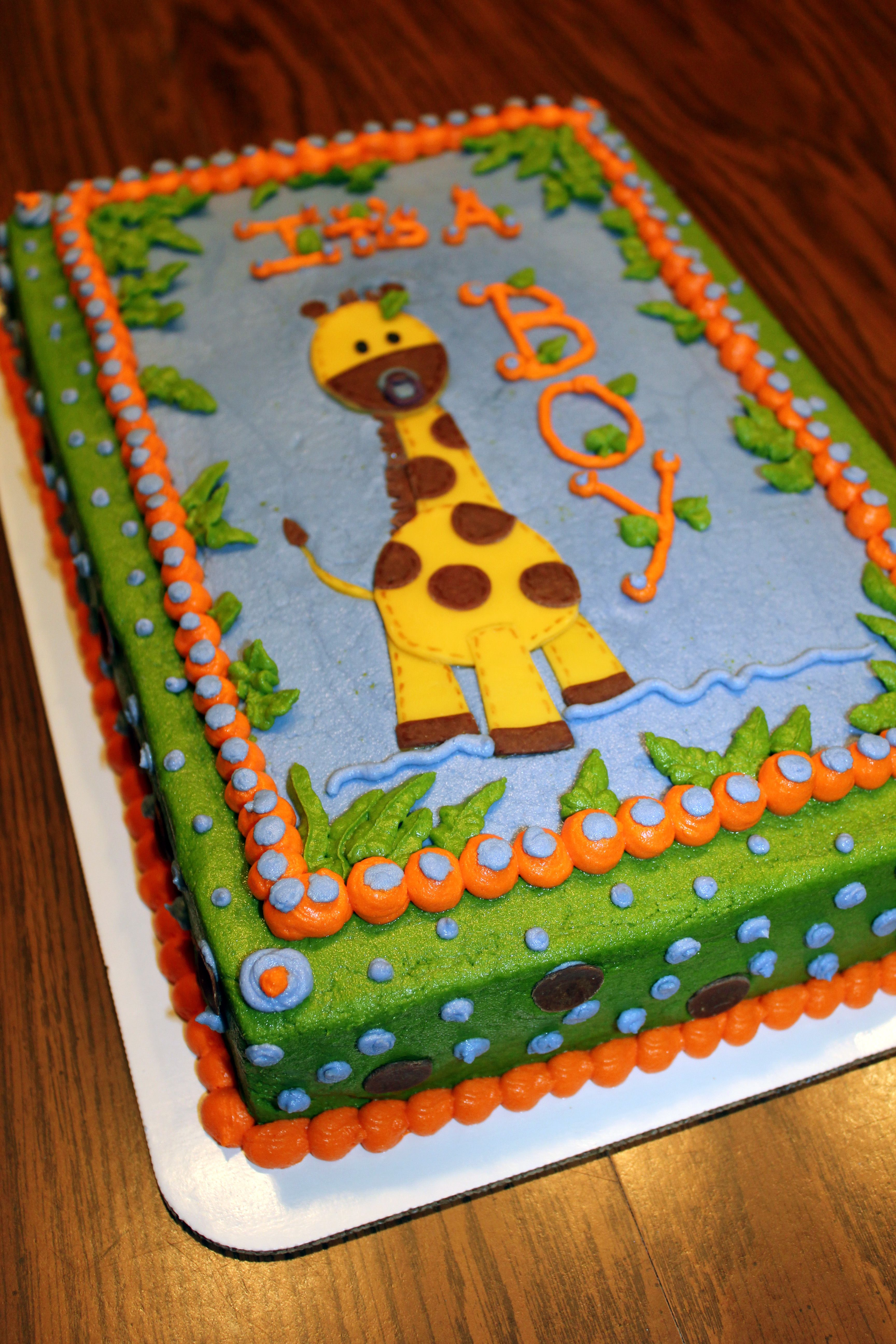Giraffe Baby Shower Cake Cake Ideas Pinterest