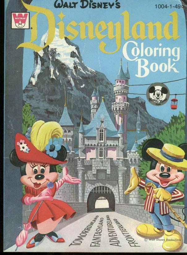 Disneyland Coloring Book, 1965   Disney - Coloring & Activity Books ...