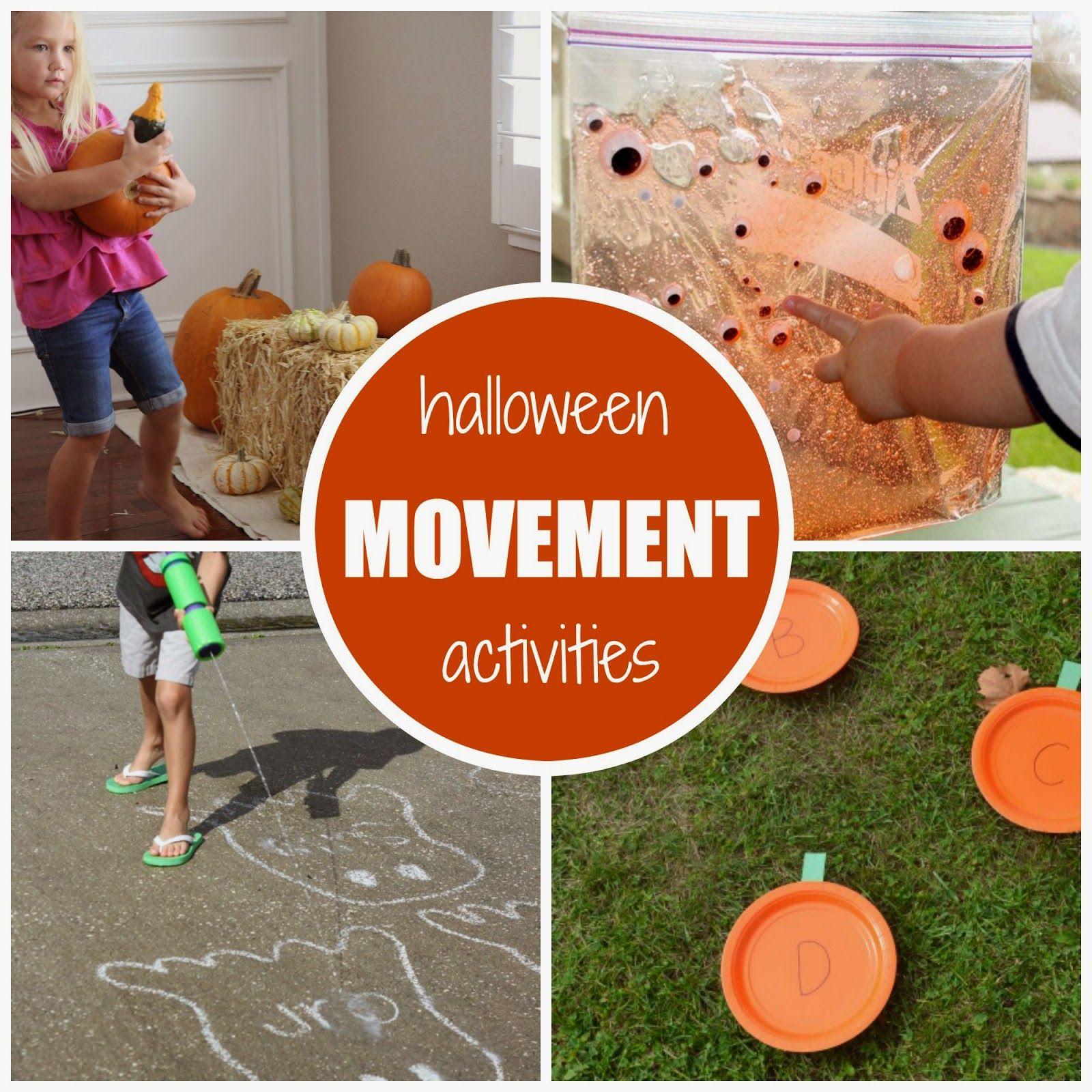 halloween themed movement activities for kids   pinterest   movement