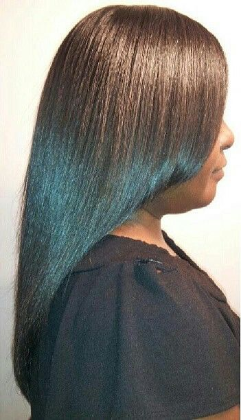 Healthy Relaxed Hair.