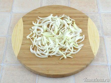 Салат из омлетной ленты