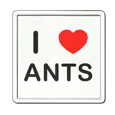 I love heart ants - #clear #plastic tea coaster / beer mat #badgebeast,  View more on the LINK: http://www.zeppy.io/product/gb/2/171807474903/