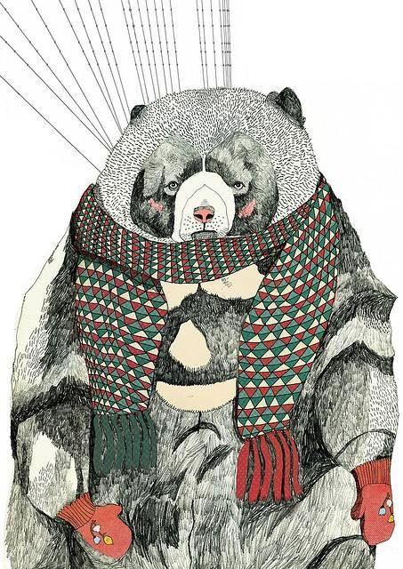 invierno oso