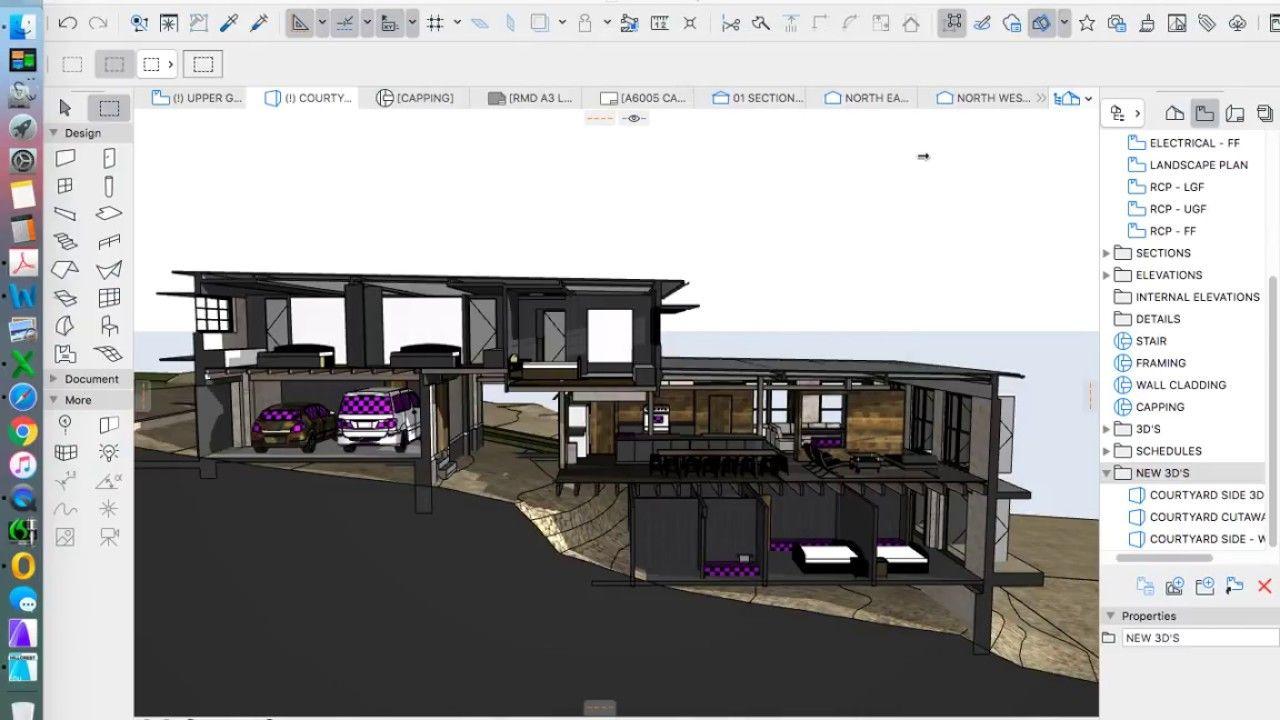 ArchiCAD 3D cutaway section | BIM | Building design, Home decor, Loft