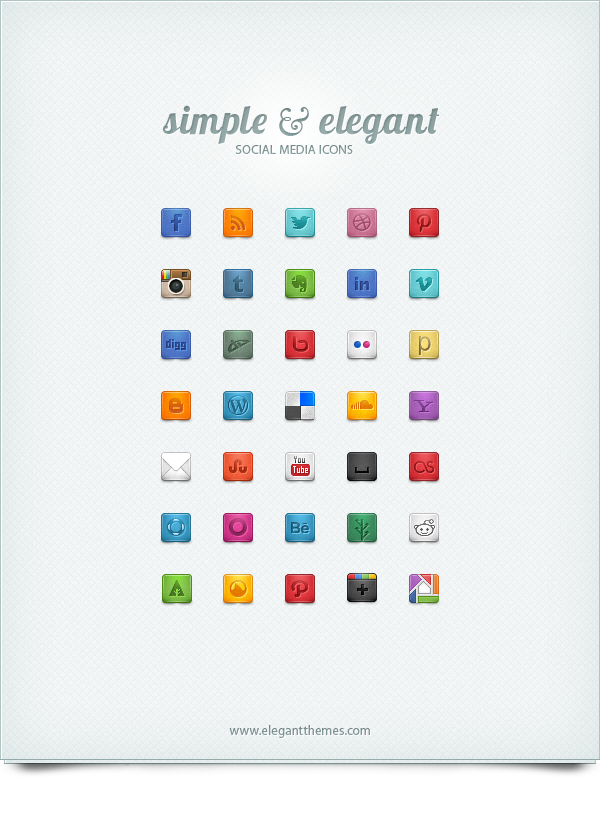 Beautiful & Free Social Media Icons | Website Class | Social media