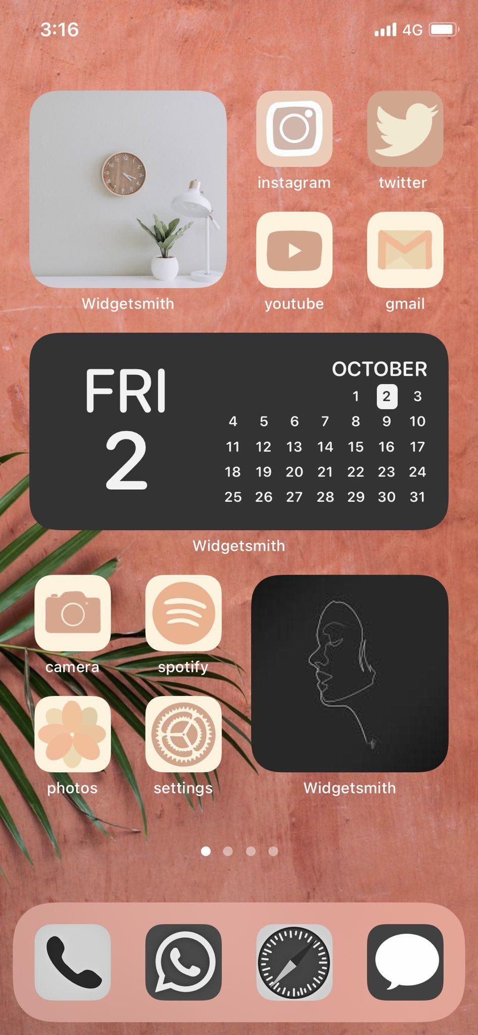 Aesthetic Home Screen Inspo Ios 14 Widget Photos Ios 14 App Covers Ios 14 App Icons Iphone Home Screen Layout Iphone Wallpaper App Iphone Apps