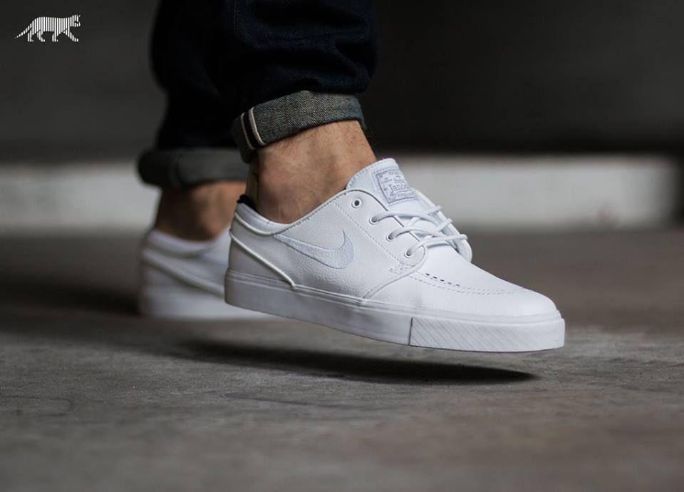 online store cf482 66768 Nike SB Zoom Stefan Janoski Leather Trainers white - Google Search