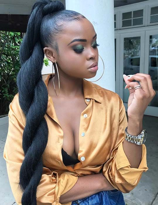 23 New Ways to Wear a Weave Ponytail   StayGlam