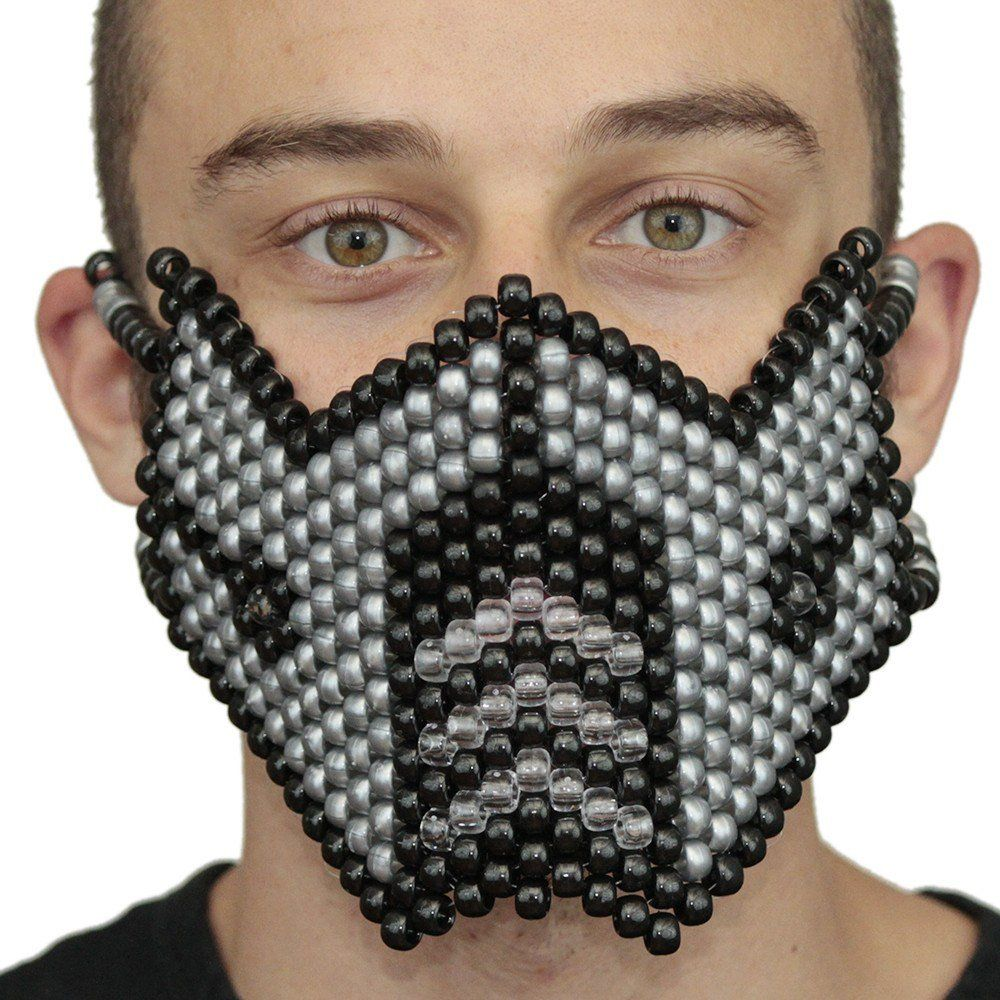 Metallic Silver Sub Zero Kandi Mask