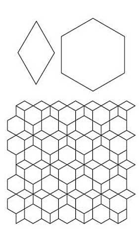 Free English Paper Piecing Hex and 6 Point Diamond Pattern