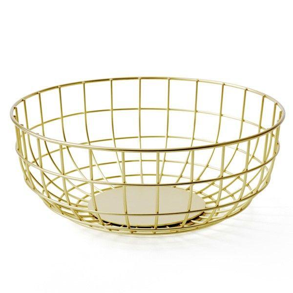 Menu Norm Wire Fruit Bowl Brass Metal Wire Grid Basket