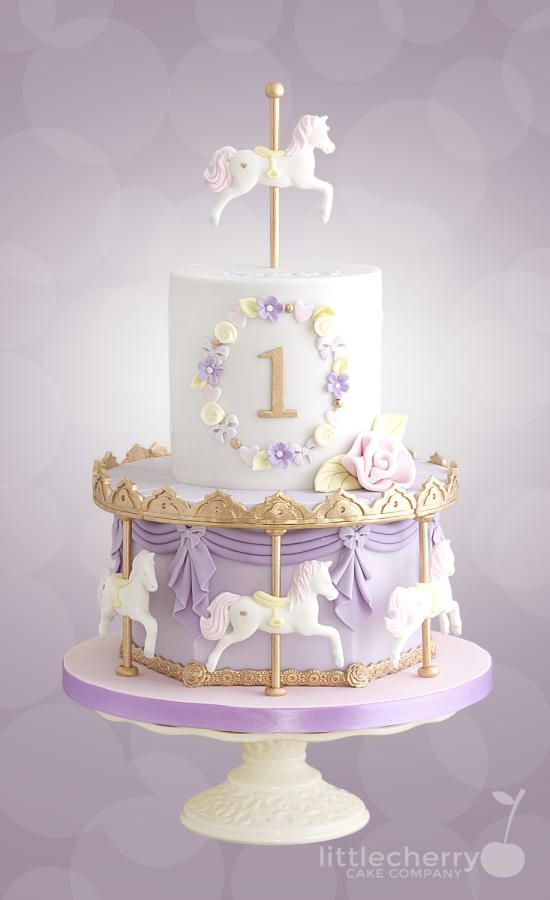 17 Adorable 1st Birthday Cake Ideas Carousel Cake Birthday Cake
