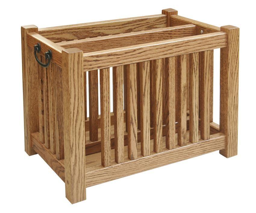 Amish Hardwood Mission Magazine Rack Deluxe Beach House Furniture Amish Furniture Hardwood