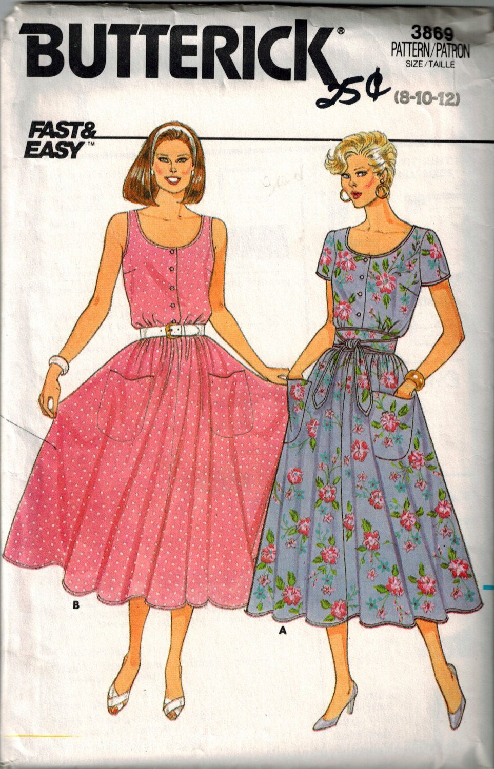 4561 Uncut Butterick Misses Sewing Pattern Loose Fitting Dress Size 6 8 10