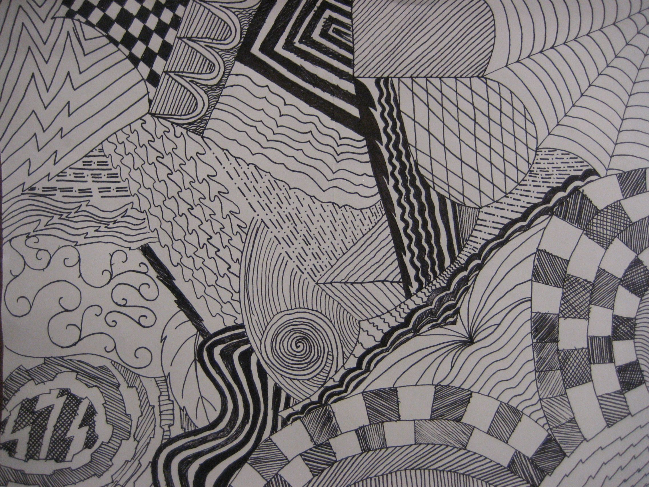 Line Drawing Zentangle : Creative line drawing zentangle my middle school