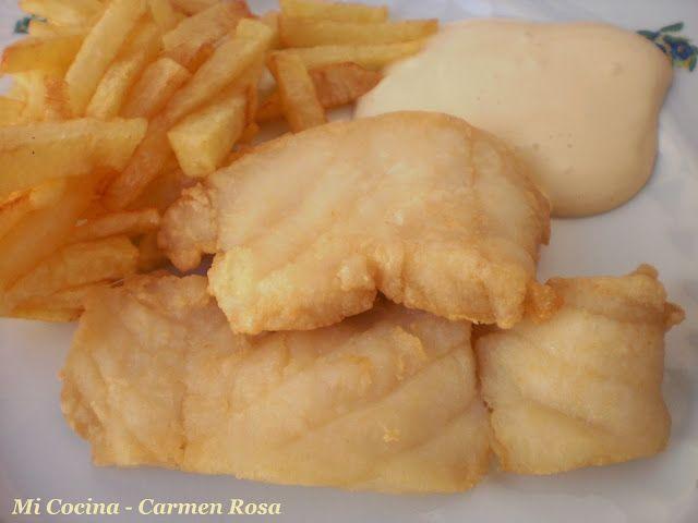 Fish And Chips O Rosada Frita Con Patatas A La Malagueña Fish And Chips Aperitivos Frito