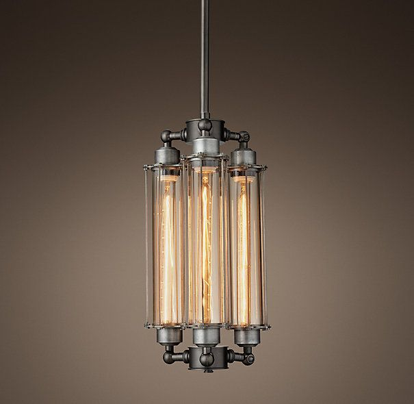 Grand Edison Glass 3 Bulb Pendant Light Fixtures Bedroom Ceiling