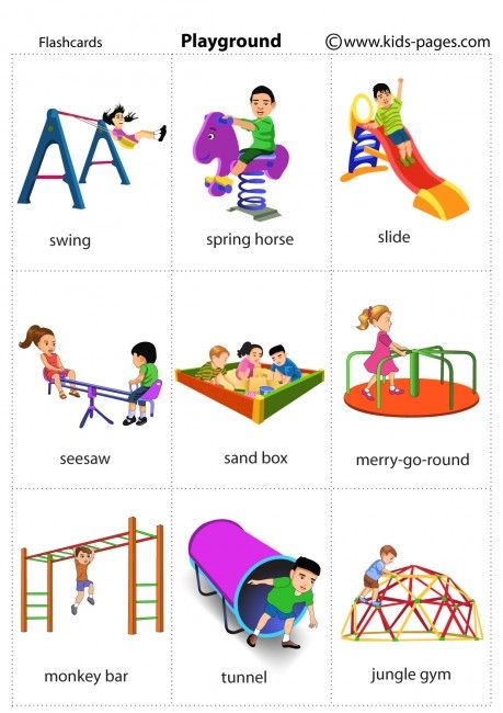 Playground flashcard | Learning english for kids, English lessons for kids,  English language learning