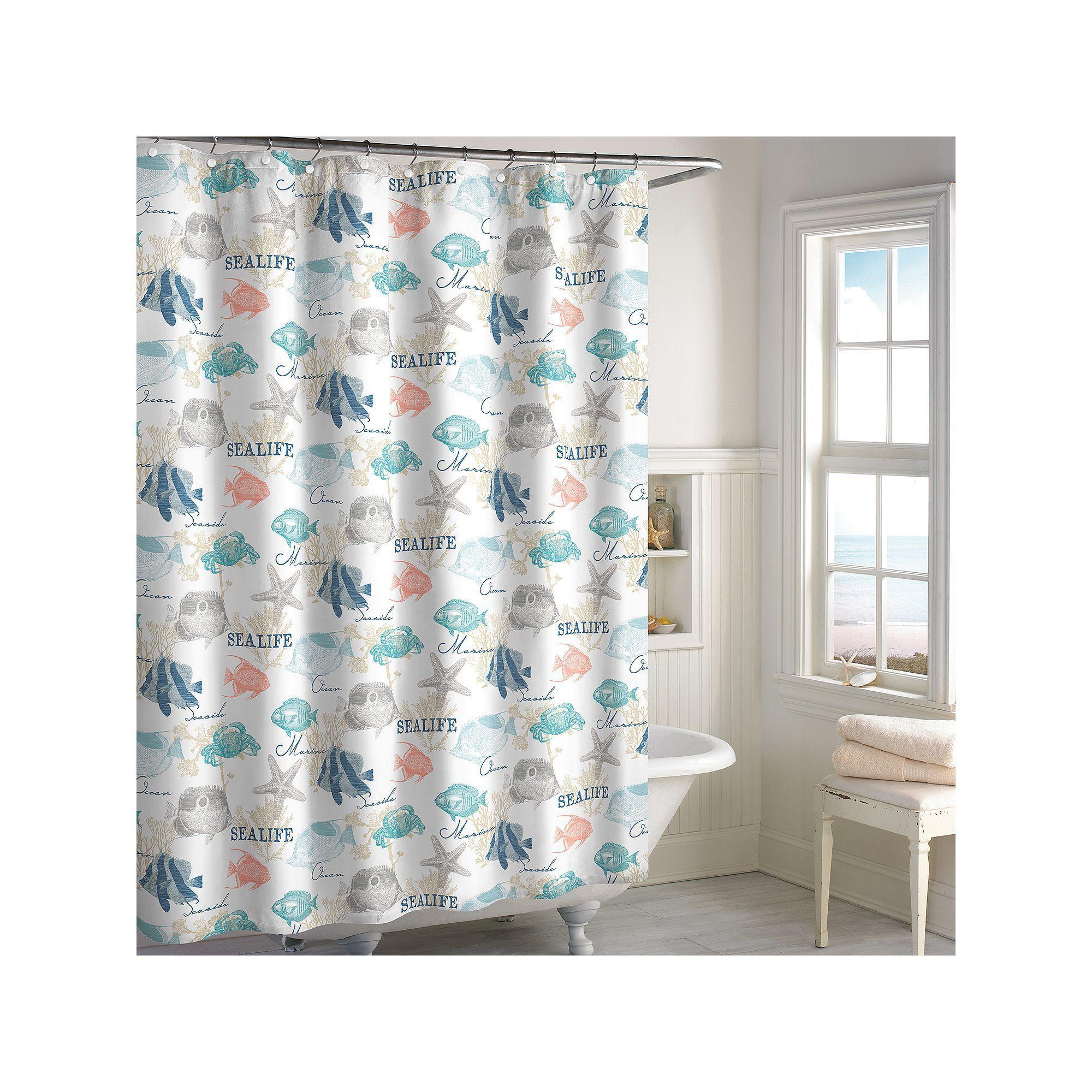 Destinations Seaside Bay Shower Curtain Multicolor Curtains