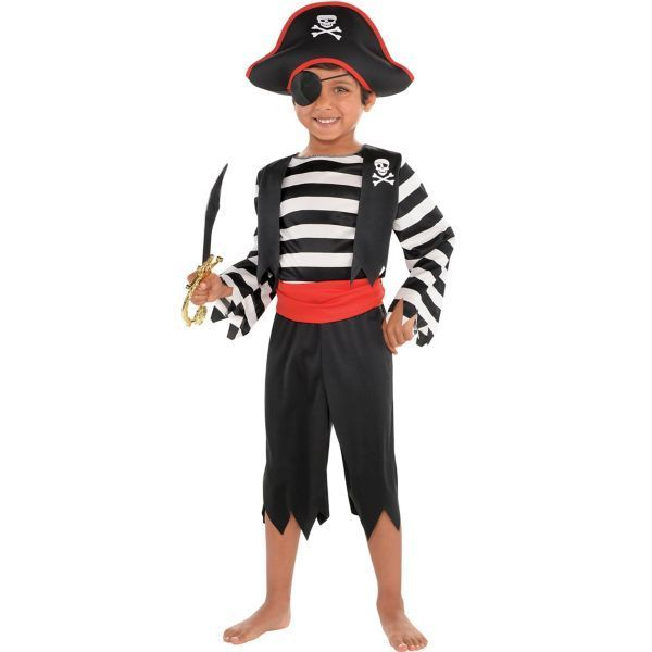 Toddler Boys Rascal Pirate Costume - Size - 3-4T #diypiratecostumeforkids Toddler Boys Rascal Pirate Costume - Size - 3-4T #diypiratecostumeforkids