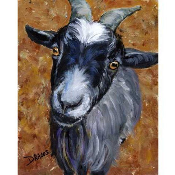 Goats Goat Art Pygmy Goat Farm Art Print of Painting by | Etsy
